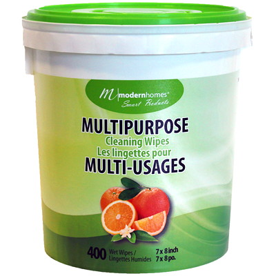 Lingettes nettoyantes multi-usages Modern Homes, emb. de 400 MULTI-USAGES 400CT