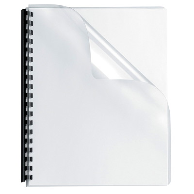 Fellowes Oversize Transparent Binder Covers With Rounded Corners  OVERSIZE 25 PACK