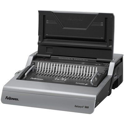 Fellowes Galaxy-E 500 Electric Comb Binding Machine With Starter Kit ELECTRIC. PUNCHES 28 SHTS BINDS UP TO 500 SHEETS