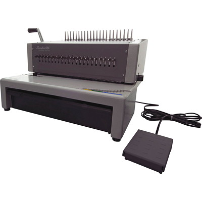 "Swingline GBC CombBind C800Pro Electric Binding Machine ELECTRIC BINDING MACHINE GREY 16 3/4""W X 15 1/2""D X 12 1/4""H"