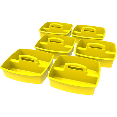 "Storex Large Yellow Storage/Organizing Caddy 12.75""L X 11.25"" W X 5.5"" H"