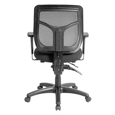 Eurotech Apollo Ratchet-Back Multi-Function Black Mesh Chair MULTI-FUNCTION  RATCHET BACK BACK AND SEAT ANGLE ADJUSTMENT