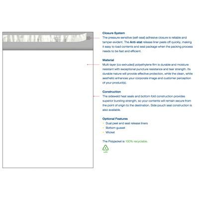 Enveloppes en poly 10 po x 13 po Crownhill