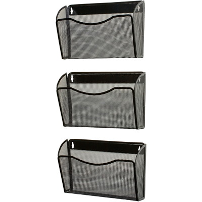Rolodex Expressions Mesh 3-Pack Hanging Wall File Pockets LETTER SIZE