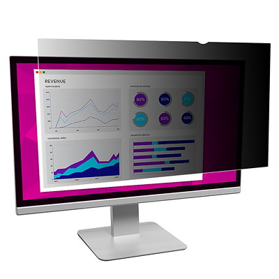 """3M High Clarity Privacy Filter for 21.5"""" Widescreen Desktop Monitors 16:9 WIDESCREEN. GLOSSY BLUE LIGHT REDUCTION 21.5"""