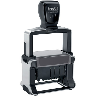 Trodat 5117 Professional Line Self-Inking Dater With 12 Office Phrases 12 OFFICE PHRASES PROFESSIONAL LINE