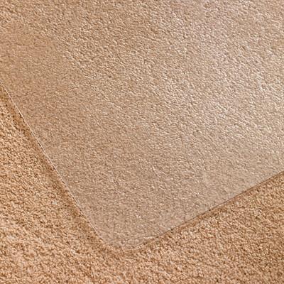 Tapis antistatique pour planchers durs et moquettes à poils courts et moyens Cleartex Ultimat Floortex, transparent, 35po x 47po GRIPPER BACK FOR MEDIUM CARPET GREENGUARD CERTIFIED