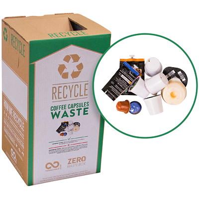 Boîte de recyclage pour dosettes K-Cup TerraCycle RECYCLER LES CAPSULES USAGéES DIMENSIONS DELA BOîTE 10X10X18