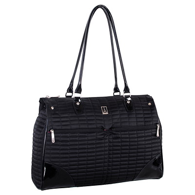 """Travelpro Ladies Laptop Tote, Black with Pink Lining, Fits Laptops up to 15.6"""" (TP21115) PINK LINING W/TABLT  PCKT  BLK"""