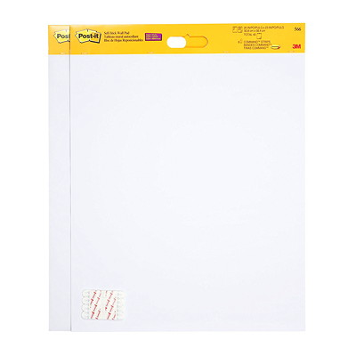 """Post-it Super Sticky Self-Stick Easel Pads, 20"""" x 23"""", 20 Sheets/Pad, 2 Pads/PK 2 PADS/PK 20 SHEETS/PAD ADHERES TO MOST WALL SURFACES"""
