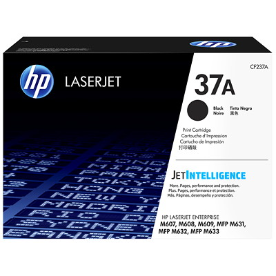 HP 37A Black High Yield Original Laserjet Toner Cartridge (CF237A) 11 000 PG HIGH YIELD