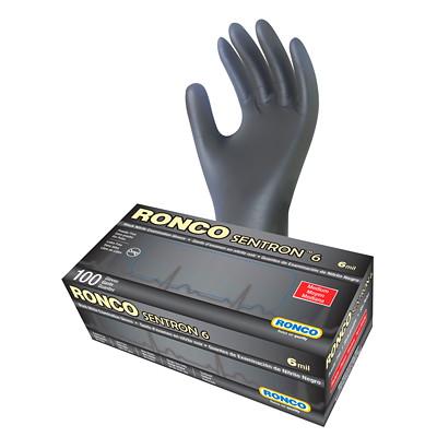 Ronco Sentron 6 Nitrile Medium Examination Gloves, 6 mil 6 MIL  100/BOX POWDER FREE  LATEX FREE