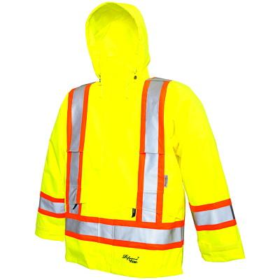 Veste de sécurité professionnelle Journeyman 300D jaune fluorescent de très petite taille Vicking CLASS 2 LEVEL 2 100% WATERPROOF