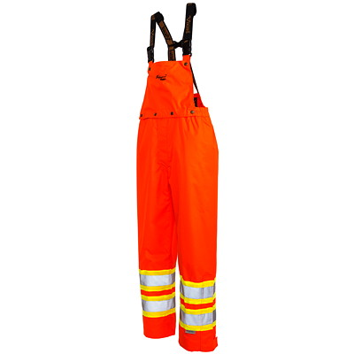 Salopette orange vif 300D Professional Journeyman Viking, moyen CLASS 2 LEVEL 2  CSA 100% WATERPROOF