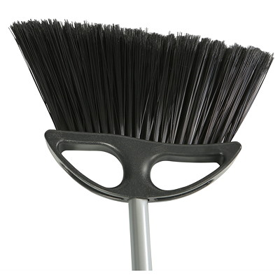 """Globe Commercial Products 10"""" Lobby Angle Broom With 48"""" Metal Handle ANGLED BRISTLES REMOVE HANDLE TO CREATE WHISK"""