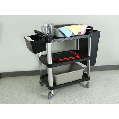 Globe Commercial Products Small  Utility Cart  ACCOMODATES UP TO 200LBS