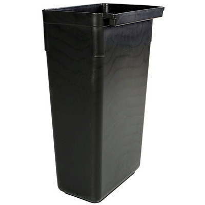 Globe Commercial Products Utility Cart Refuse Bin HANGS ON SIDE OF UTILITY CARTS