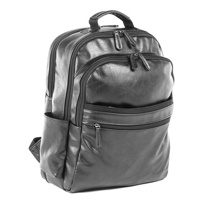 """Bugatti 15.6"""" Laptop Vegan Leather Backpack With RFID  COGNAC INSIDE ORGNZER.ZIPPERED POCKET"""