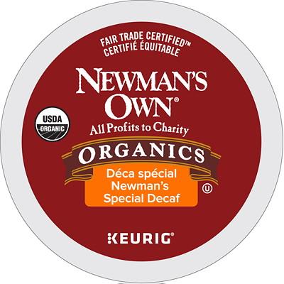 Newman's Own Medium Roast Single-Serve K-Cup Coffee, Special Decaffeinated, 12/BX 12/BOX MEDIUM ROAST