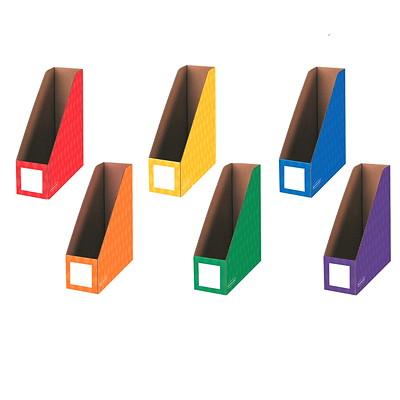 "Bankers Box 4"" Magazine File Folders, 6/Pk ASSORTED  BANKERS BOX 50%PCW"