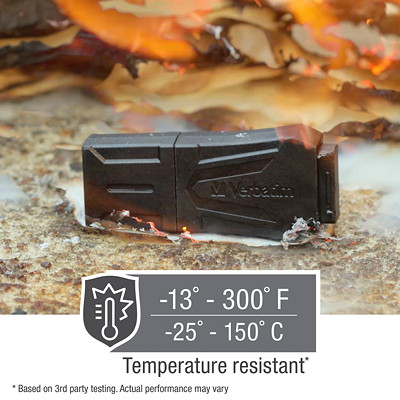 Verbatim ToughMAX - USB flash drive - 32 GB WATER  CRUSH  TEMP. RESISTANT MADE FROM PROPRIETARY KYRONMAX