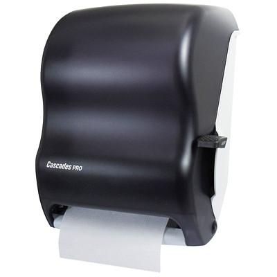 Cascades PRO Universal Lever Roll Towel Dispenser, Black ROLL TOWEL  BLACK CASCADES PRO