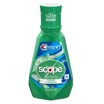 Crest Scope Classic Mouthwash, 250 mL  ORIGINAL FORMULA