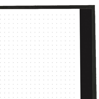 """Blueline NotePro Dotted Journal, Black, Lux Collection, 9 1/4"""" x 7 1/4"""", English HARD BLACK COVER 192 PAGES - 9-1/4 X 7-1/4"""