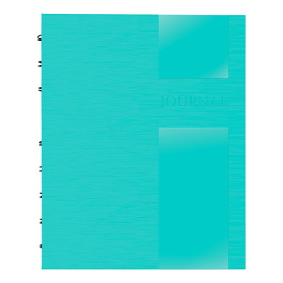 "Blueline NotePro Dotted Journal, Aqua, Lux Collection, 9 1/4"" x 7 1/4"", English HARD AQUA COVER 192 PAGES - 9-1/4 X 7-1/4"