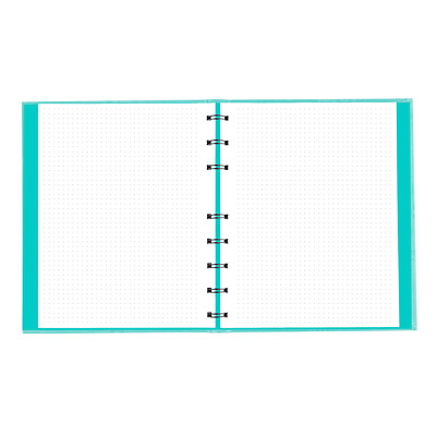 """Blueline NotePro Dotted Journal, Aqua, Lux Collection, 9 1/4"""" x 7 1/4"""", English HARD AQUA COVER 192 PAGES - 9-1/4 X 7-1/4"""