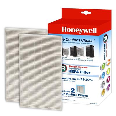 Honeywell True HEPA Air Purifier Replacement Filter (R), 2PK HELPS CAPTURE 99.97% PARTICLES INCL. 2 AIR PURIFIER FILTERS
