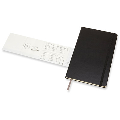 "Moleskine Weekly Planner, 5"" x 8 1/4"", Black, January 2019 - December 2019, English 1PPW  BLACK  8.5""X5"" HARDCOVER"