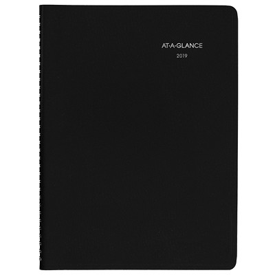 "DayMinder Professional Weekly Planner, 11"" x 8 1/2"", Black, January 2019 - December 2019, Bilingual BILINGUAL 8X11 BLK SIM.LEATHER"