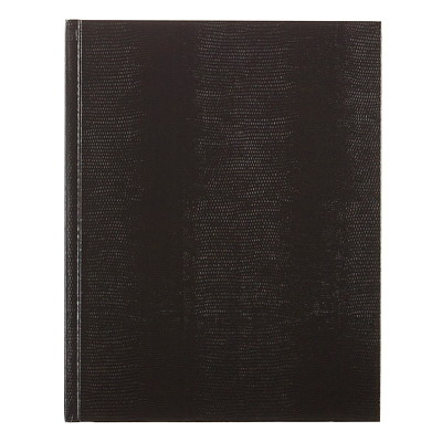 """Blueline Executive Notebook, Assorted Colours (No Colour Choice On Delivered Orders), 10 3/4"""" x 8 1/2"""", English 10 ¾ X 8 ½ RULED BOOK 150PAGES NAVY BLK GREEN BURGUNDY"""