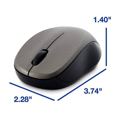 Verbatim Silent Wireless Blue LED Mouse - mouse - 2.4 GHz - graphite COLOR - GRAPHITE