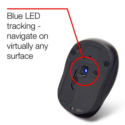 Verbatim Silent Wireless Blue LED Mouse - mouse - 2.4 GHz - blue COLOR - BLUE