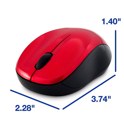 Verbatim Silent Wireless Blue LED Mouse - mouse - 2.4 GHz - red COLOR - RED
