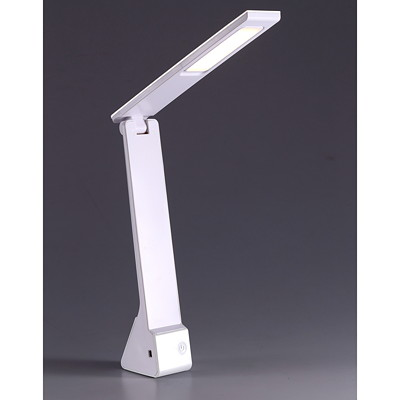 Bostitch Battery-Operated Desk Lamp, White  COMPACT & FOLDABLE BUILT IN BATTERY /MOBILE USE