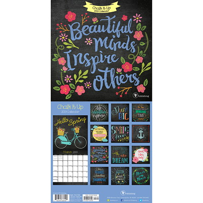 "TF Publishing Chalk It Up Monthly Wall Calendar, 7"" x 7"", January 2019 - December 2019, English 7 X 7 MINI CALENDAR"