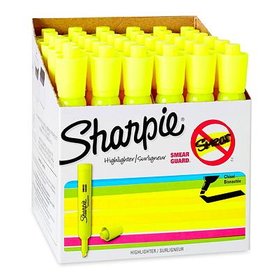 Surligneurs de type réservoir Accent Sharpie, jaune fluorescent, pointe biseautée, emb. de 36 FL. JAUNE 36 PQ