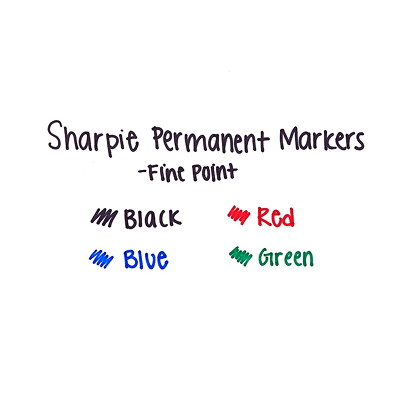 Sharpie Extreme Permanent Markers, Black, Fine Tip
