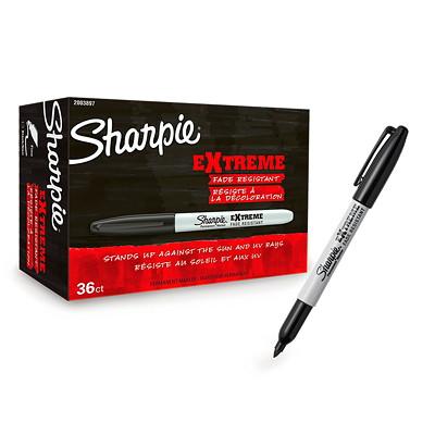 Sharpie Extreme Permanent Markers, Black, Fine Tip, 36/BX PERMANENT MARKER  FINE TIP