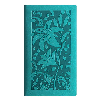 "Letts Blossom Weekly Pocket Planner, 3 1/8"" x 6"", Green, January 2019 - December 2019, English GREEN BLOSSOM PERFECT BINDING  SOFT COVER"
