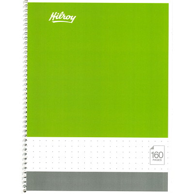 """Hilroy Dotted Coil Notebook, 8"""" x 10 1/2"""", Assorted Bright Colours, 160 Pages 160 PAGES"""