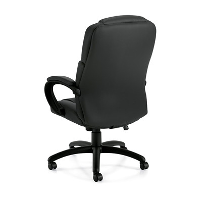 Offices To Go Pacific High-Back Tilter Chair, Black, Bonded Luxhide Leather  BL20 FULLY ASSEMBLED