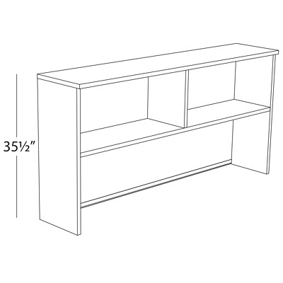 "HDL Innovations 72"" Hardrock Maple Hutch FITS LAYOUT6 HARD MAPLE"
