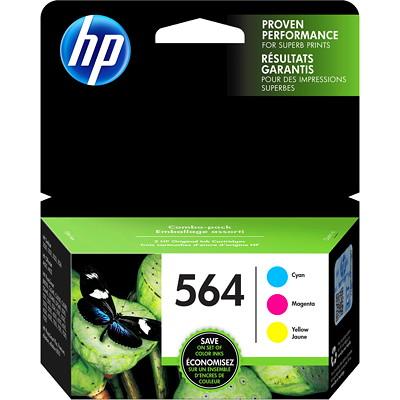Cartouches d'encre d'origine HP 564 (N9H57FN), cyan, magenta et jaune, emb. de 3 3-PACK CYAN MAGENTA YELLOW 300 PG YIELD PER CART