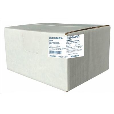 """HighMark Industrial Garbage Bags, Black, 22"""" x 24"""", Regular Strength, 500/CS GARBAGE BAGS 500/CASE"""