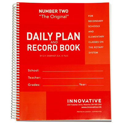 The Original Teacher Daily Plan Book, Number Two  DAILY PLAN BOOK ENGLISH SPIRAL BOUND