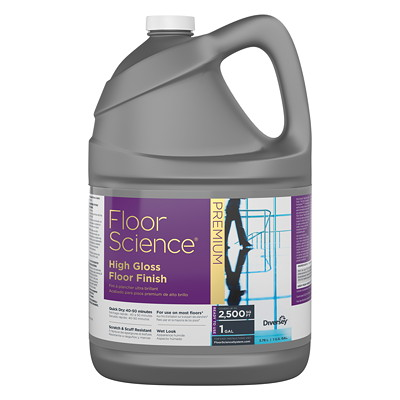 Diversey Floor Science Premium High Gloss Floor Finish, 3.78 L 1 GAL